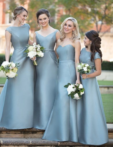 Blue Bridesmaid Dresses Mix And Match Bridesmaid Styles Mikado