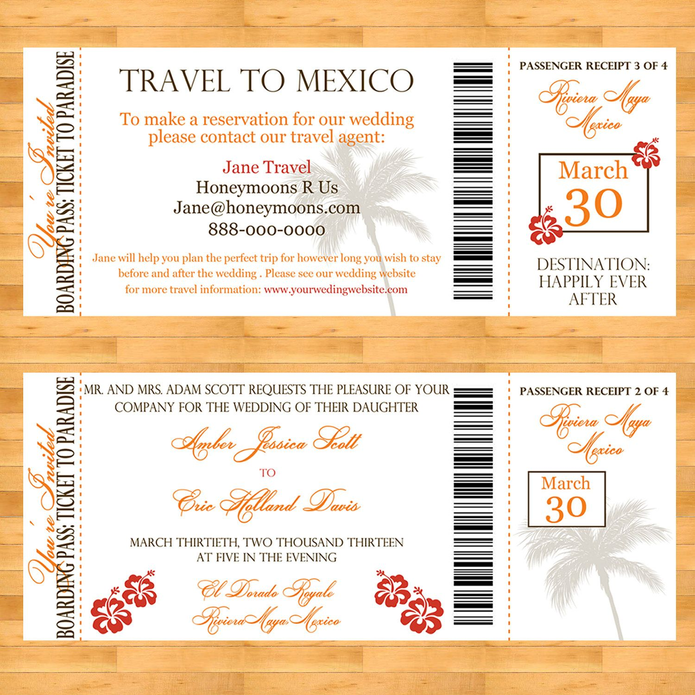 Boarding Pass Destination Wedding Invitation Set. $35.00, via Etsy. |  Destination wedding travel, Destination wedding invitations, Destination  wedding