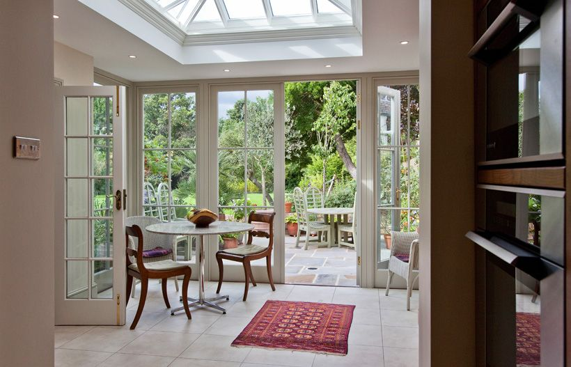 Small timber orangery extension to kitchen orangeries for Small room extension
