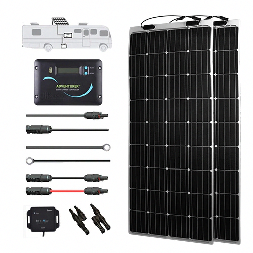 320 Watt 12 Volt Flexible Solar Rv Kit In 2020 Solar Technology Solar Kit Flexible Solar Panels