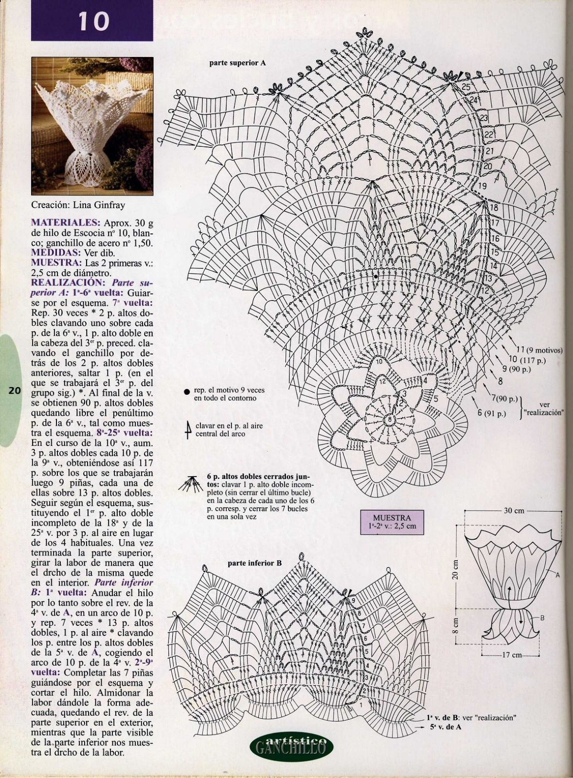 vase au crochet | Napperons | Pinterest