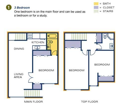 Three Bedroom Floorplan #TimberTopApartments #Akron #Ohio ...