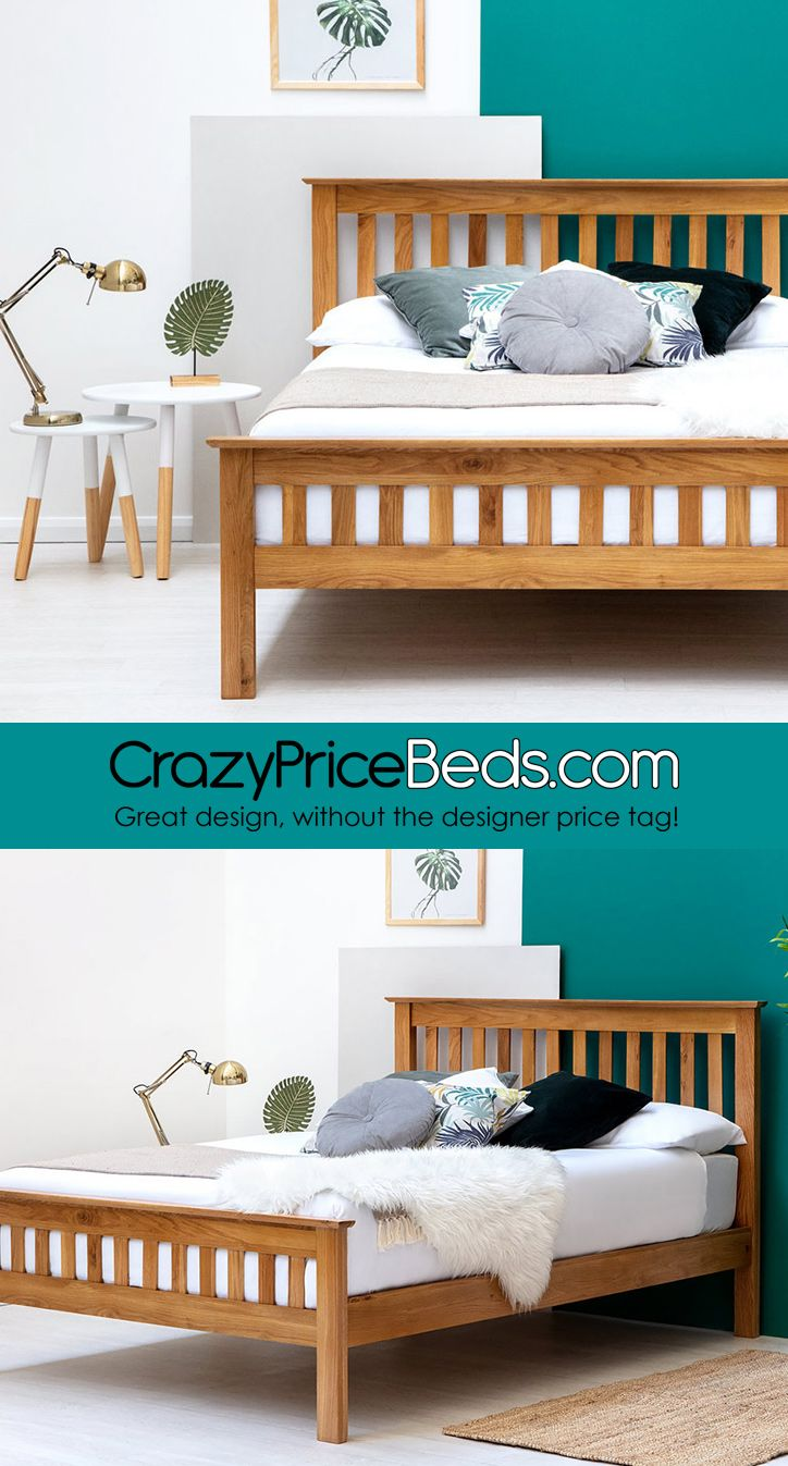 Chelford farmhouse style solid oak wooden bed frame