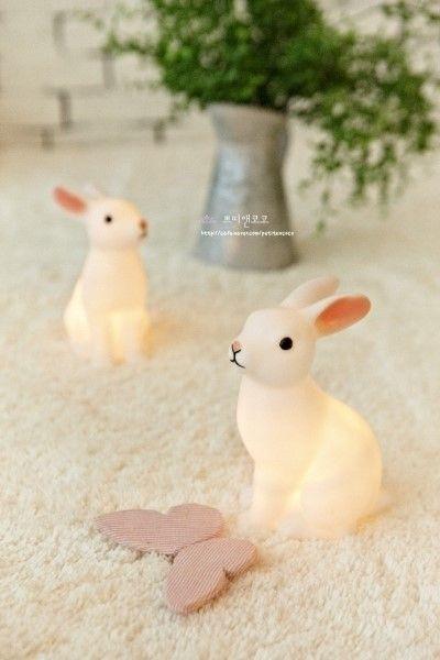 Rabbit Lamps 재테크연구소 :: 뽕쁘앙 미니토끼램프 대표 토끼조명