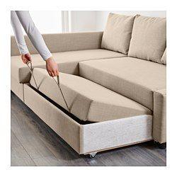 Friheten Sleeper Sectional 3 Seat W Storage Skiftebo Beige Sofa Bed With Storage Corner Sofa Bed With Storage L Shaped Sofa Bed