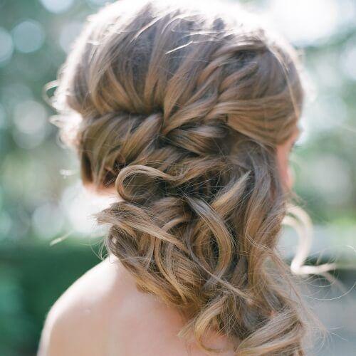 Side Swept Updo Wedding Hairstyles Destination Wedding In 2019