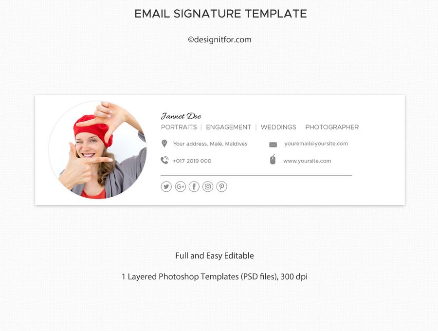 Email signature template, template, , Psd Email