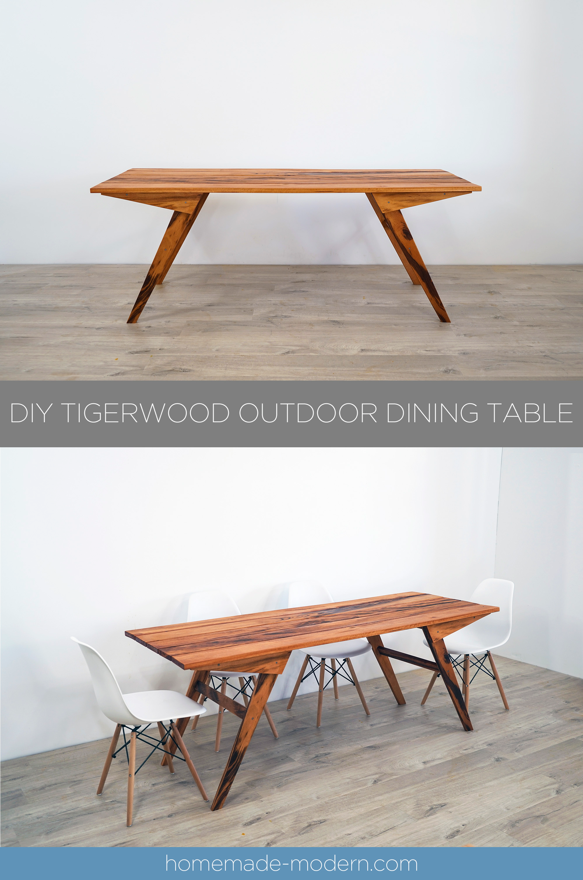 This Diy Outdoor Tigerwood Dining Table Can Be Made Using Just Three Power Tools For More In Outdoor Dining Table Diy Dining Table Modern Outdoor Dining Table [ 3020 x 2000 Pixel ]