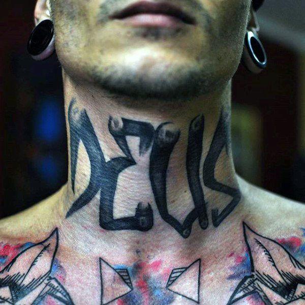 80 Graffiti Tattoos For Men Inked Street Art Designs Graffiti Tattoo Neck Tattoo Tattoos For Guys