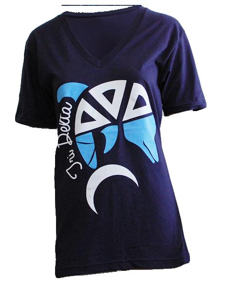 Delta Delta Delta Dolphin V-Neck by Adam Block Design   Custom Greek Apparel & Sorority Clothes   www.adamblockdesign.com