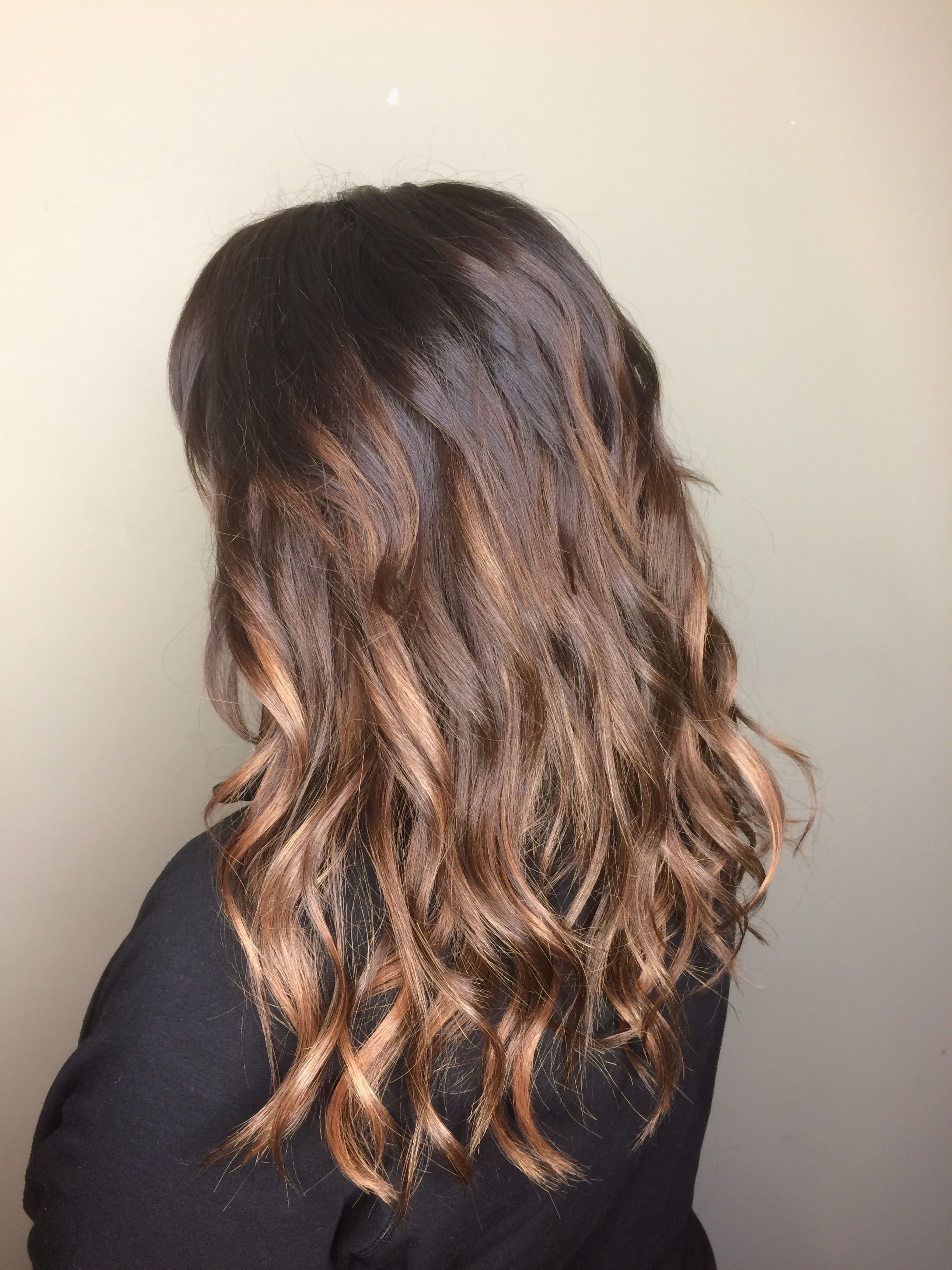 Balayage Honey Blonde Ombre Brunette Chocolate Brown