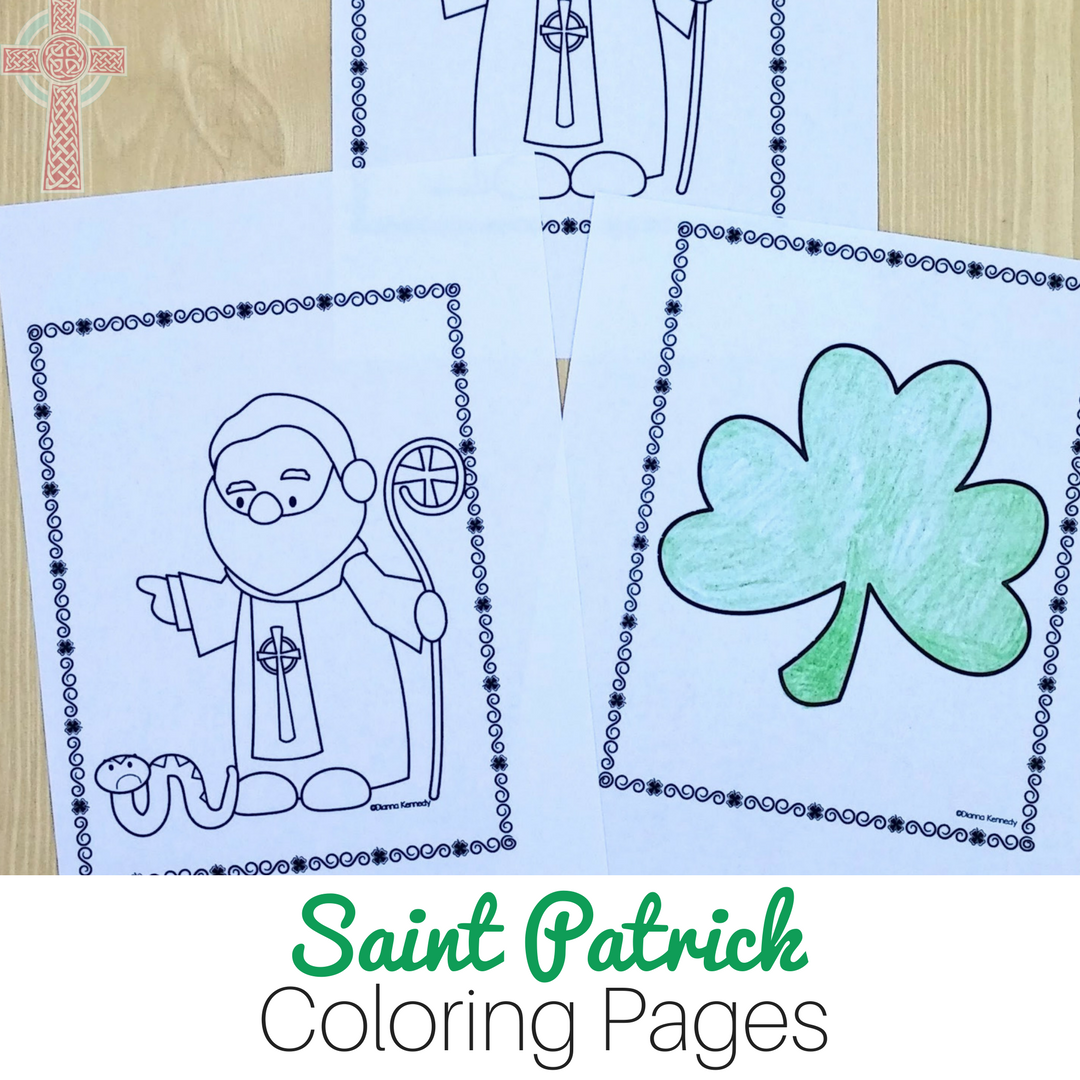 Saint Patrick Coloring Pages For Catholic Kids With