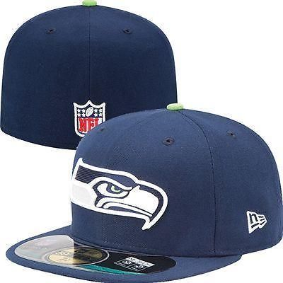 New Era Mens Seattle Seahawks NFL Sideline On Field Cap 59FIFTY Fitted Hat  7 1 2 152665c4b
