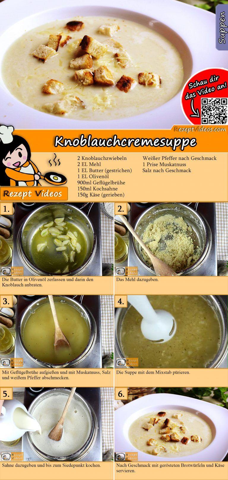 Knoblauchcremesuppe Rezept Knoblauchcremesuppe Rezepte Und Suppenrezepte
