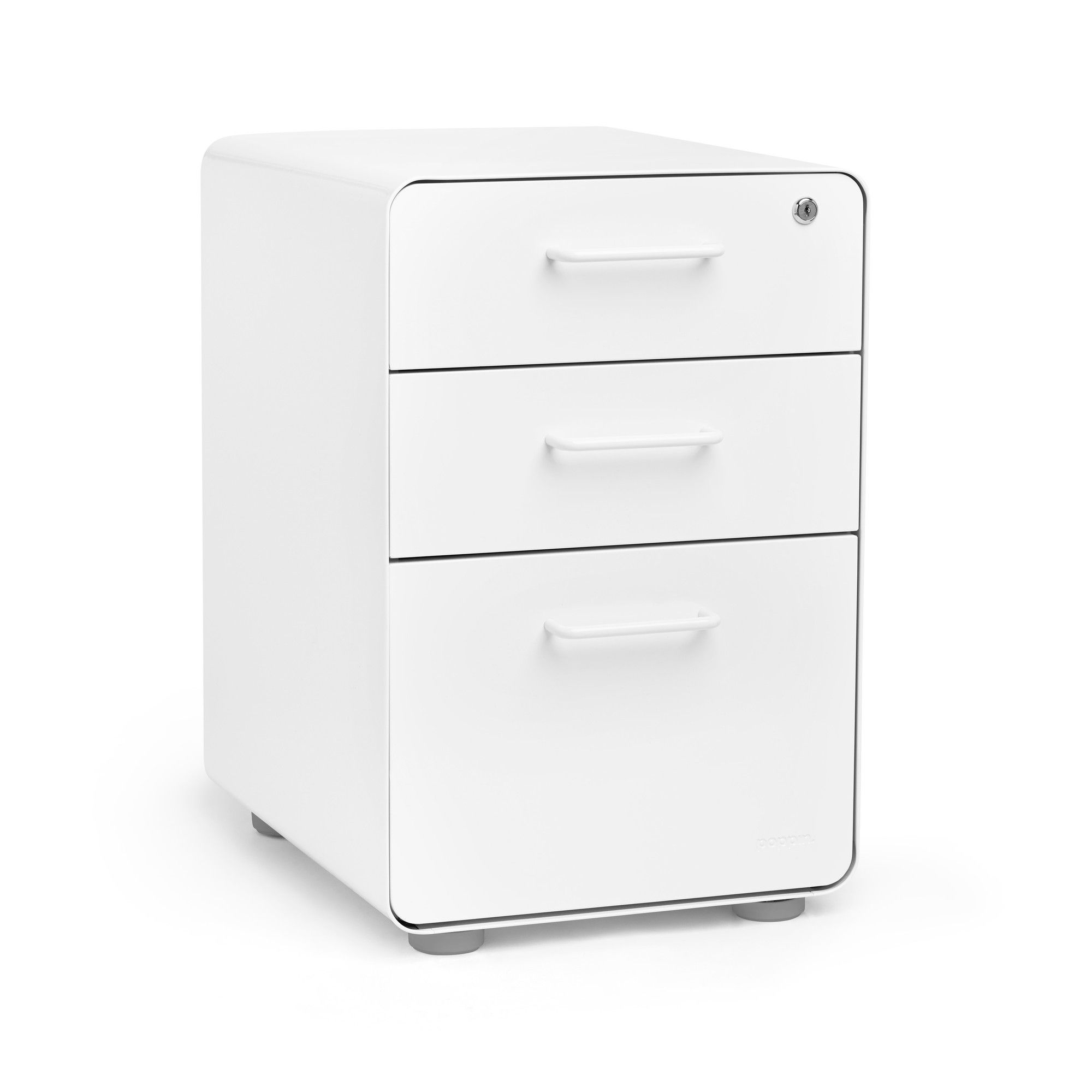 4e65001ce3b Poppin® White Stow 3-drawer File Cabinet