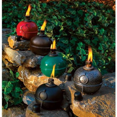 Smudge Pots With Citronella Outdoor Torches Garden