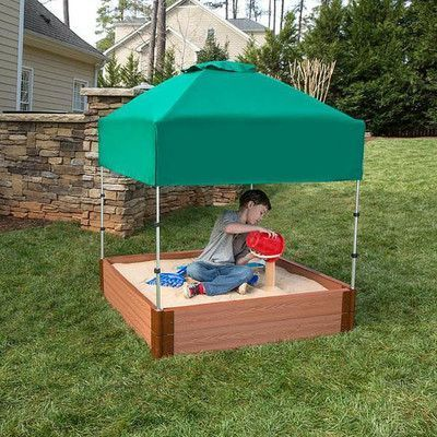 Frame It All Telescoping 4 ft. W Square Sandbox Canopy & Cover ...