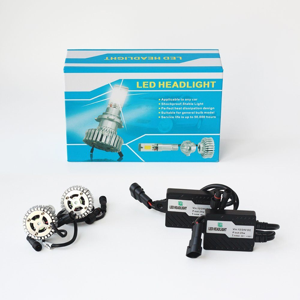 Amazoncom Vvme 50w Led Headlight Conversion Kit Hid Upgrade All