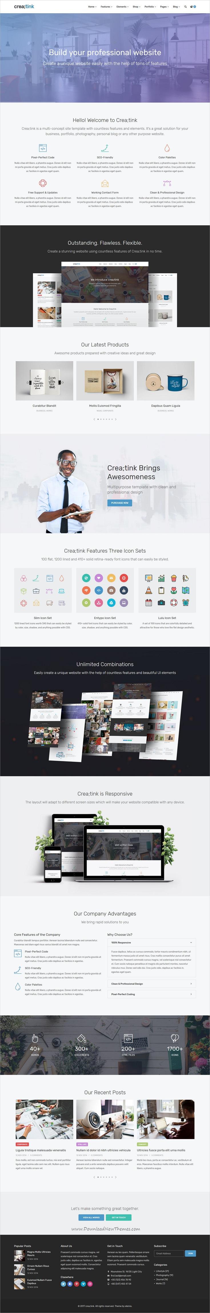 Crea;tink Multi-Concept HTML5 Template | Template