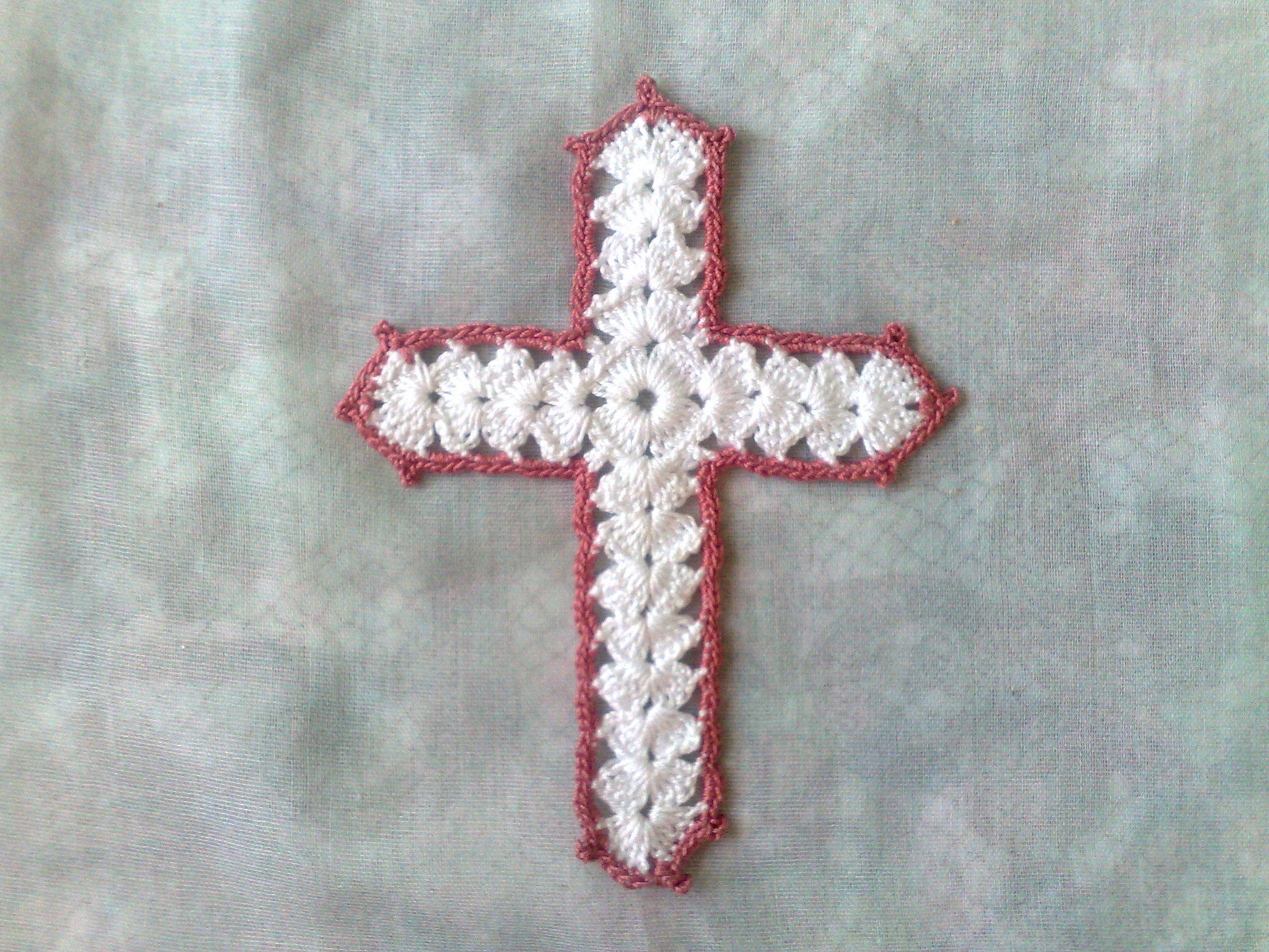 Kreuz Gehäkelt, Gehäkelte Applikation Kreuz, Bibel Lesezeichen, Ostern,  Taufe, Konfirmation,
