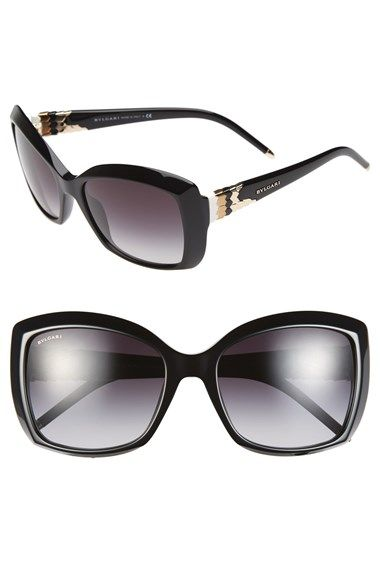 3b0bf6a252 BVLGARI 56mm Square Sunglasses available at  Nordstrom