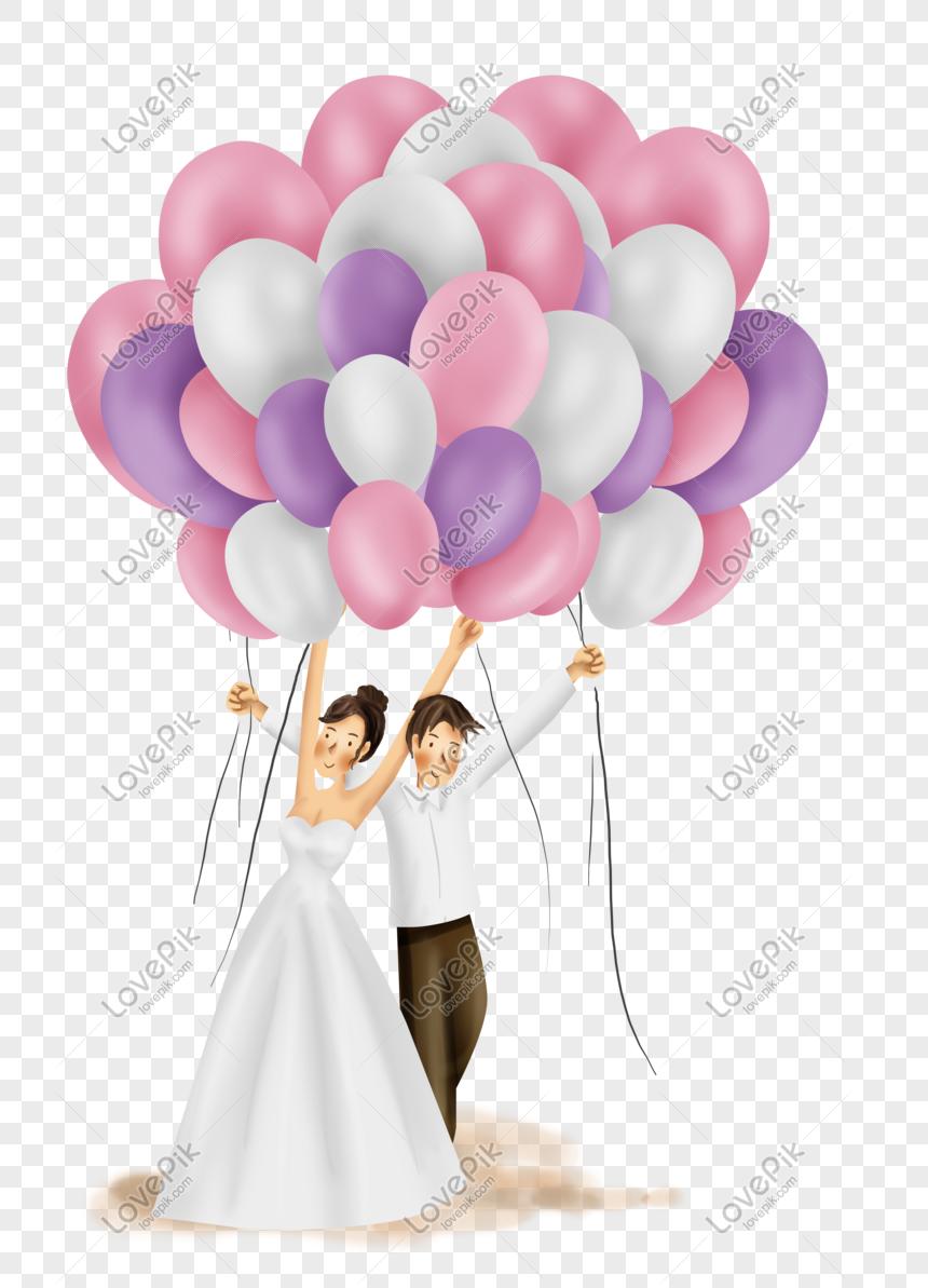 Balloon Wedding Groom And Bride Wedding Balloons Wedding Invitation Posters Wedding Groom