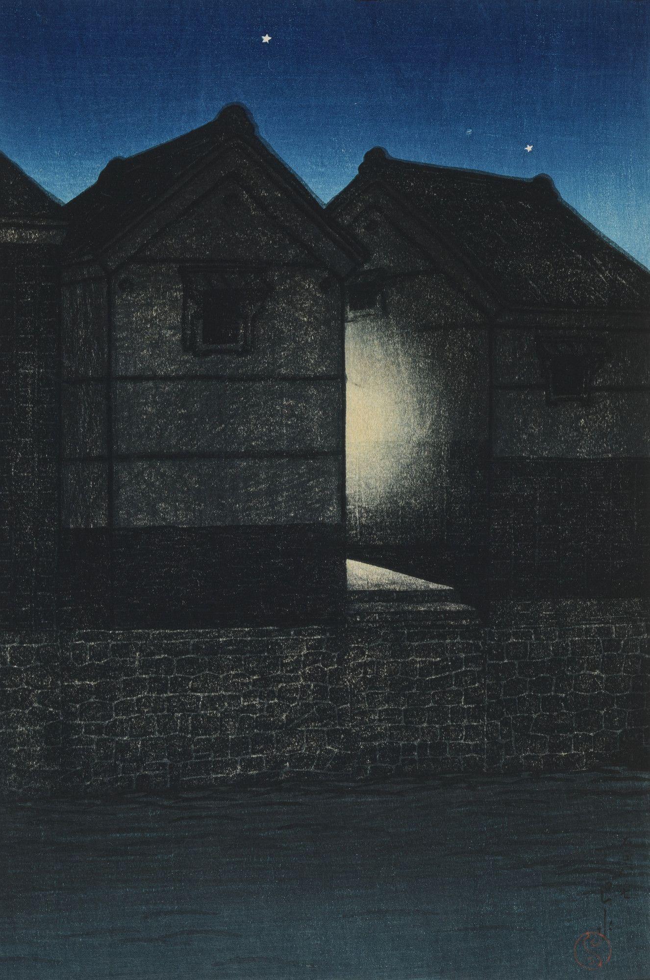 Shinagawa at Night (Yoru no Shinagawa), from the series Twelve Subjects of  Tokyo - 1000Museums   Toledo museum of art, Japanese art, Japanese  woodblock printing
