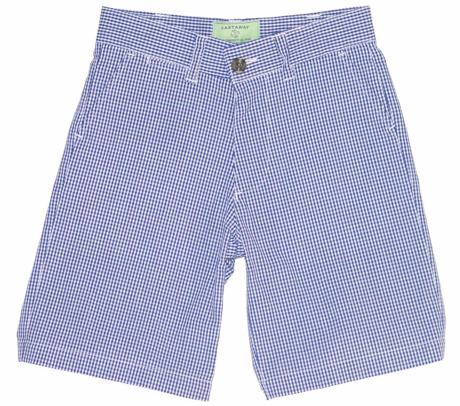 Jetties Shorts Micro Gingham Royal