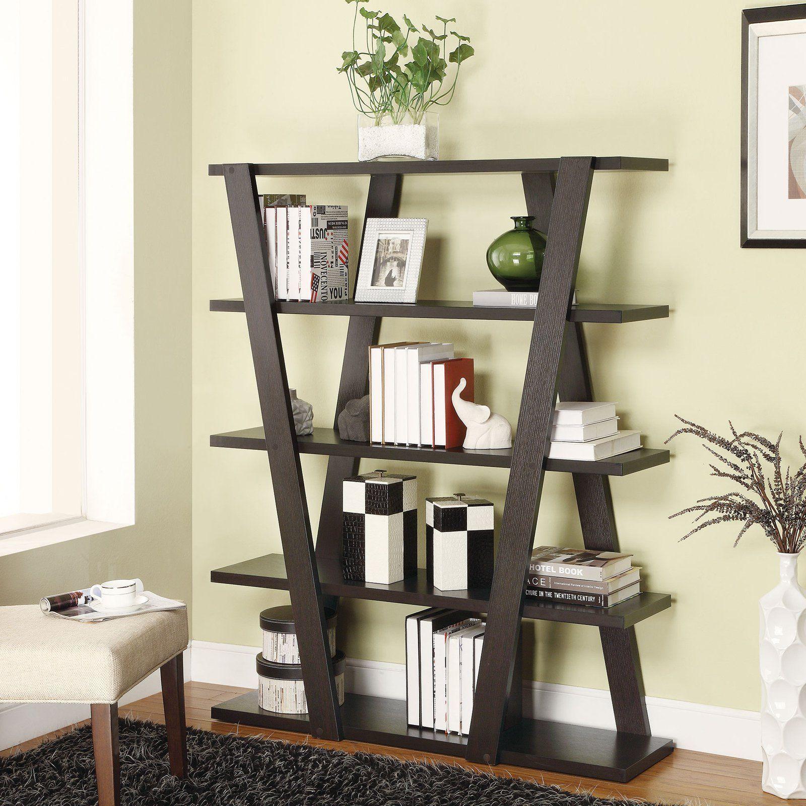 Coaster Furniture V Shaped Bookcase From Hayneedle Com  # Muebles Coaster