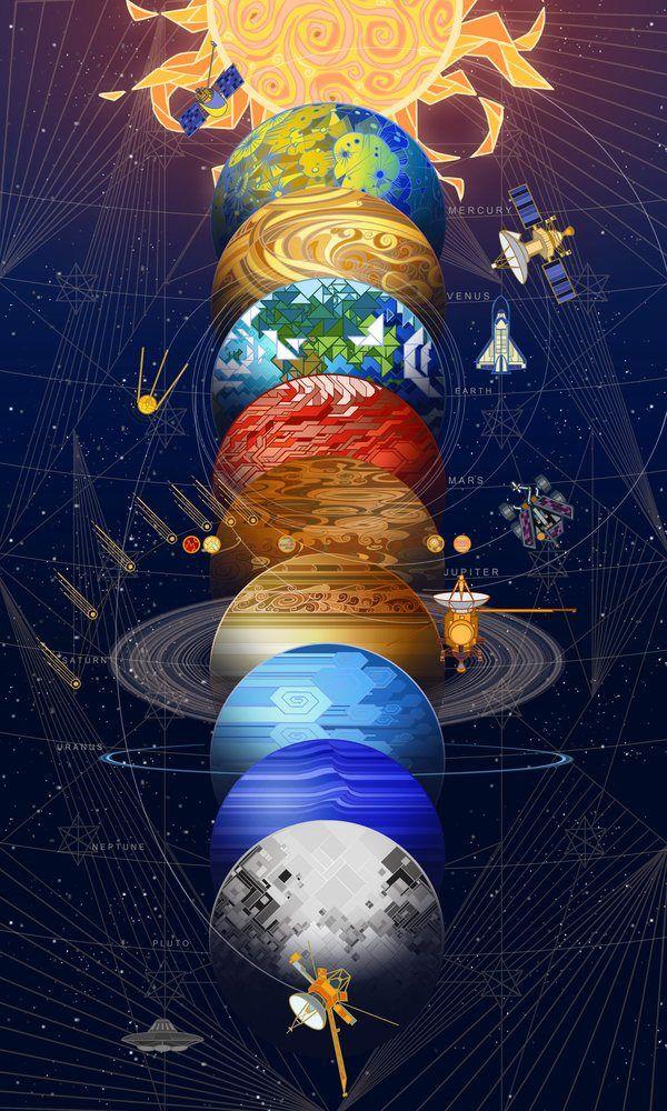 Solar system, breath-art, Digital, 2016