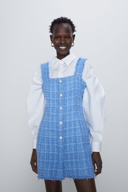 Details about  /Zara Size M Elegant Multicolored Sleeveless A-Line Mini Dress