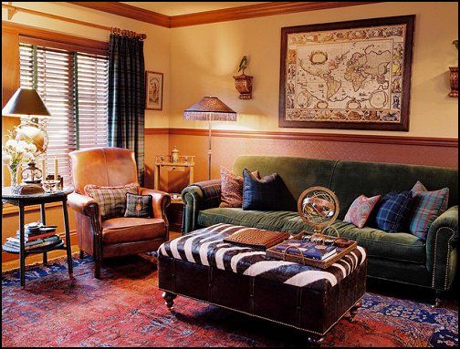 Around The World Themed Bedrooms Family Room Decorating Traditional Family Rooms Family Room