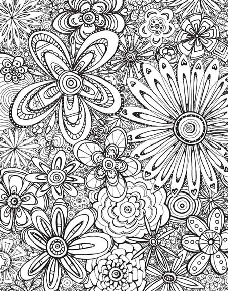Free coloring page download for adults