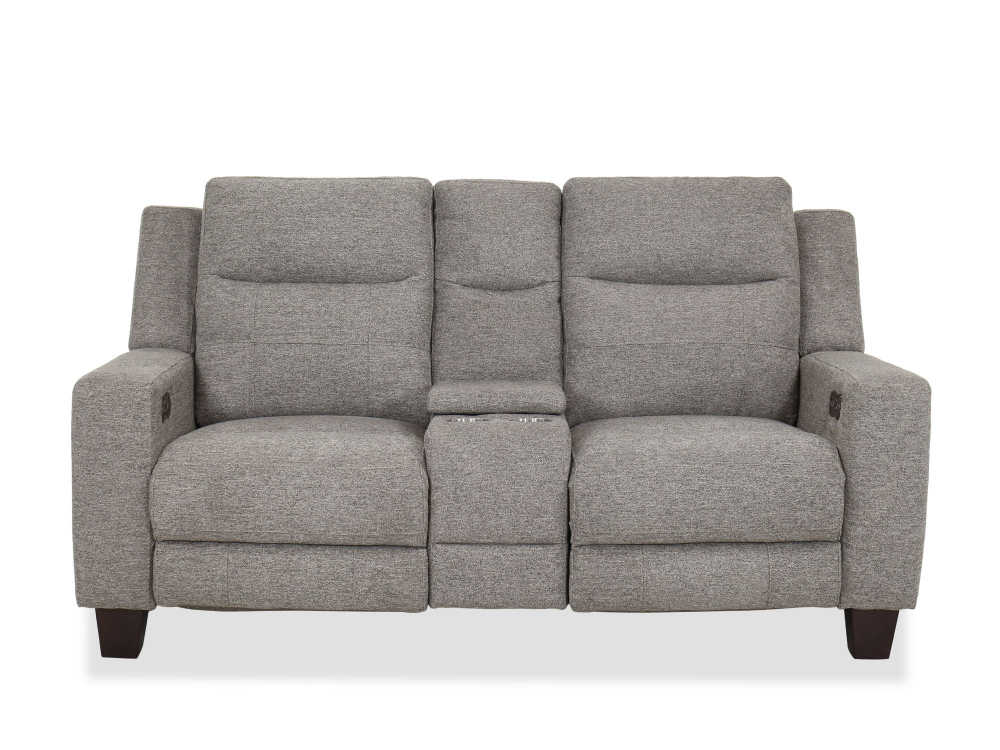 Super Casual Power Reclining Loveseat In Gray Mathis Brothers Bralicious Painted Fabric Chair Ideas Braliciousco