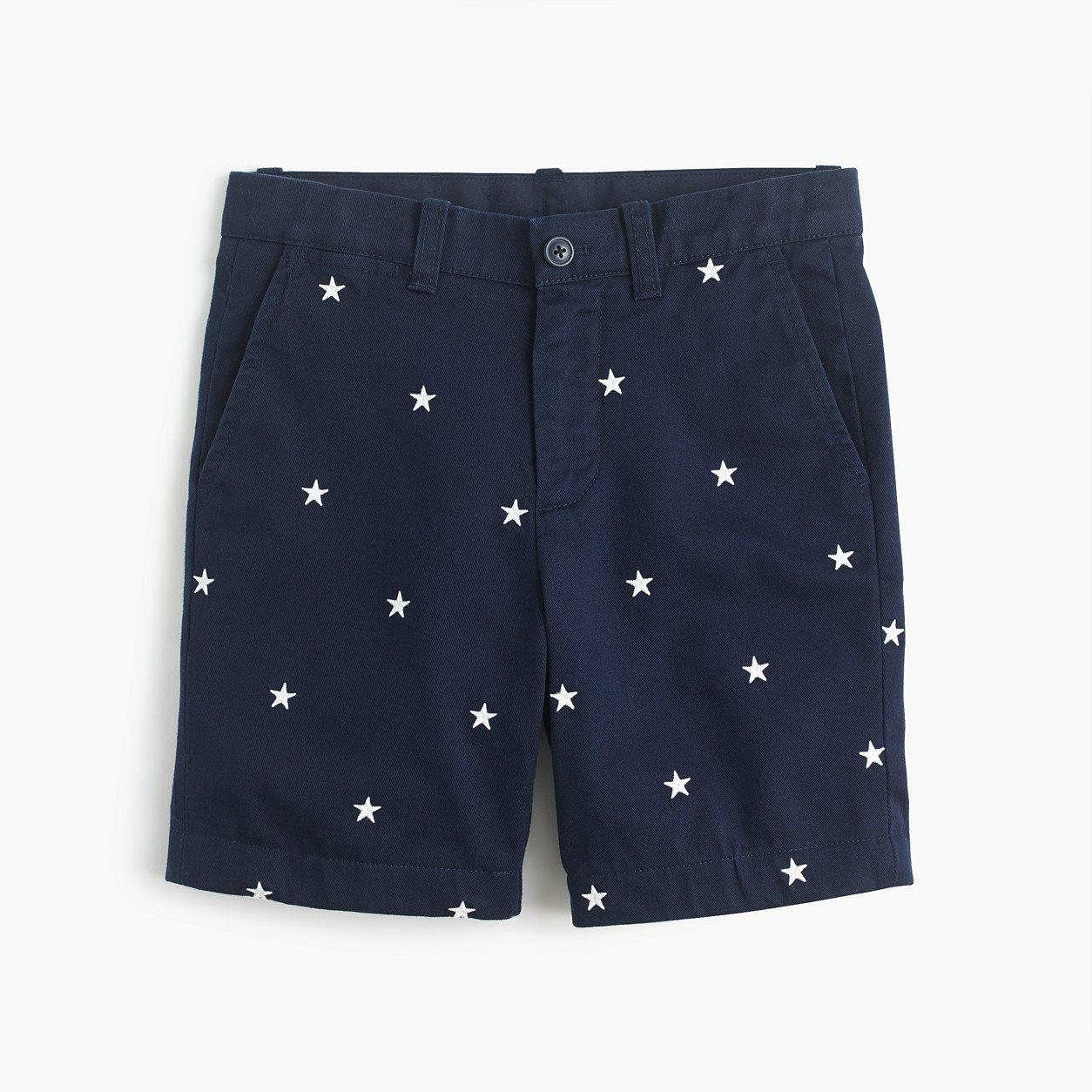 1bb7d8a435 crewcuts Boys Critter Stanton Short In Glow-In-The-Dark Stars (Size 12 Kid)