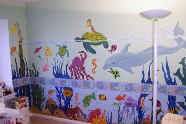 Room Ideas   Babyu0027s Room Mural   Under The Sea