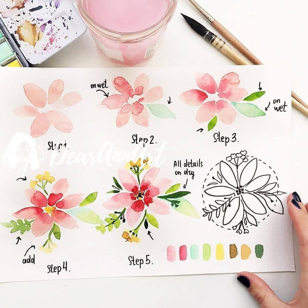 The Best Bujo Collections On Instagram These Watercolor Flowe