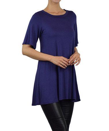 Another great find on #zulily! Purple Scoop Neck Tunic #zulilyfinds
