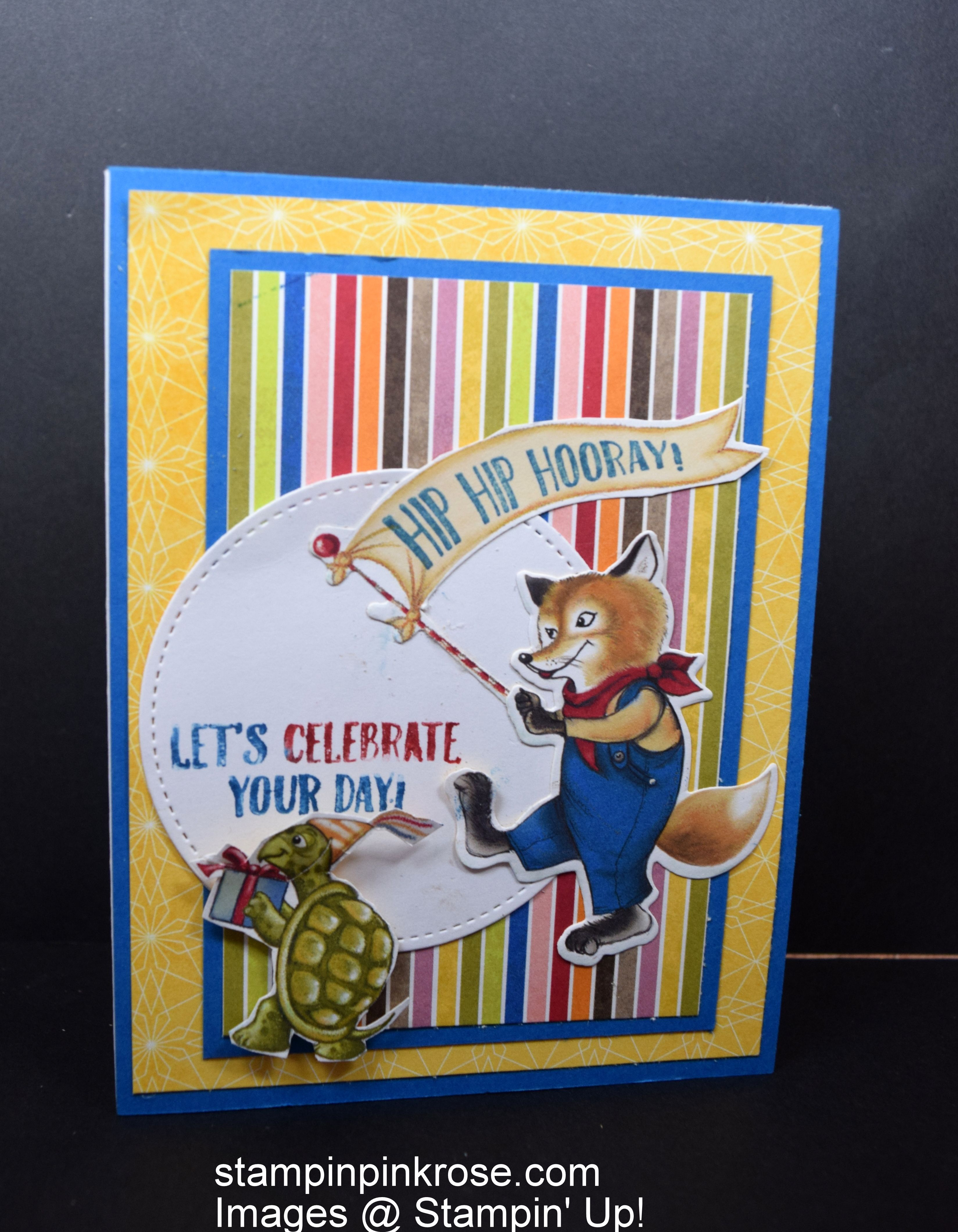 Stampinu up birthday card made with birthday friends framelits and