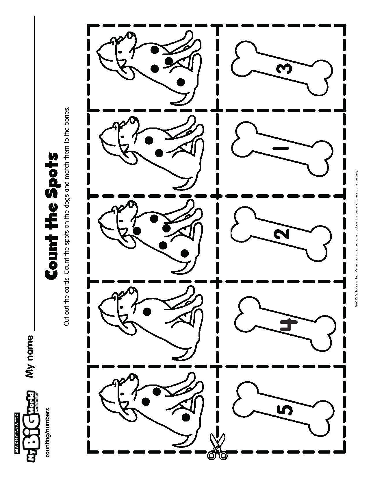 Fire Dogs Make Counting Fun Prek Printable Mybigworld