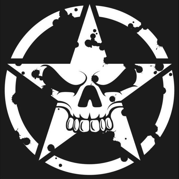Jeep Wrangler Army Star Hood Jeep Stickers Skull Stencil Skull Art