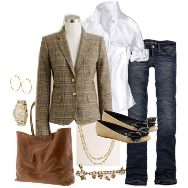 Tweed jacket and jeans!