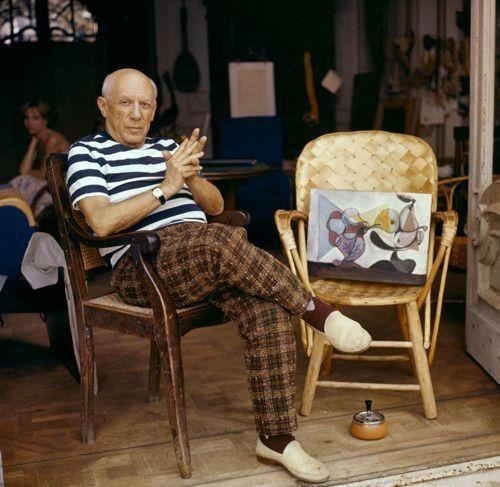 Picasso coolhunter, insuperable (e imposible) combinación de rayas y cuadros