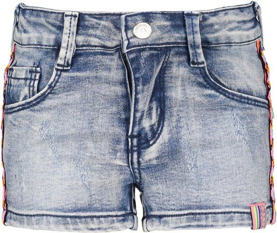 B.Nosy Meisjes Short Denim Pants With Tape On The Side