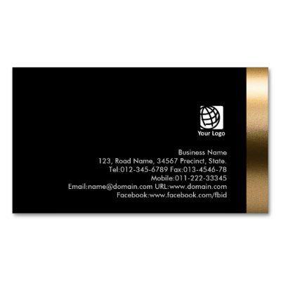 Stylist Bold Black Gold Business Card Business Cards | Zazzle