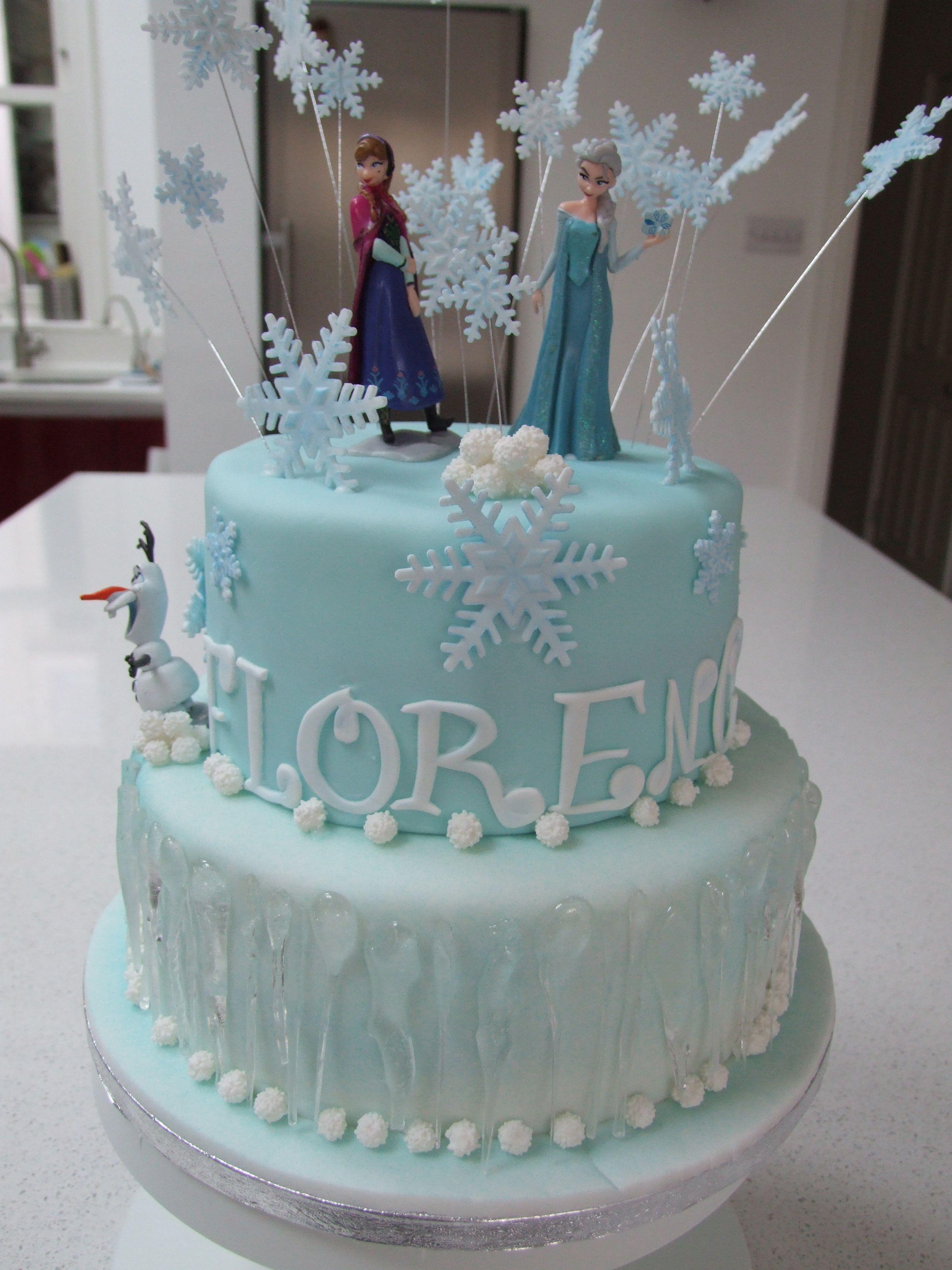 Disney Frozen cake idea Bellas birthday Cake BakingDecorating