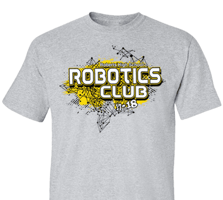 High School Impressions Rbt 008 W Custom Robotics Club Tees