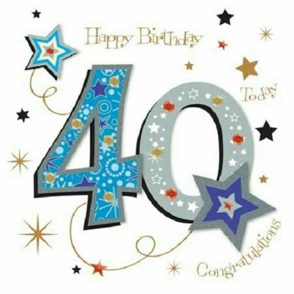 Pin by Elaine Rafferty on Number cards 40th birthday