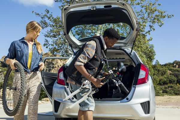 The 2015 Honda Fit Helps Make Weekend Biking Excursions Possible What Does Your Help You Do Reminds To Properly Secure Items In Cargo
