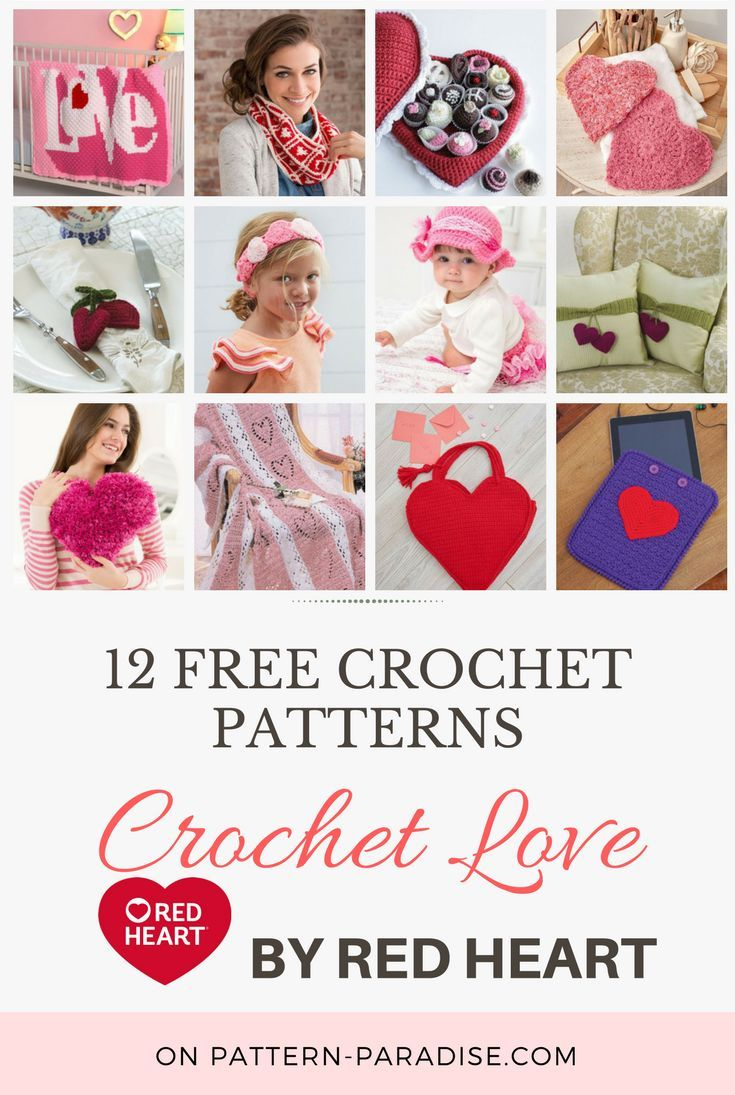 Crochet Finds - Red Heart Yarns Crochet Love | DIY | Pinterest